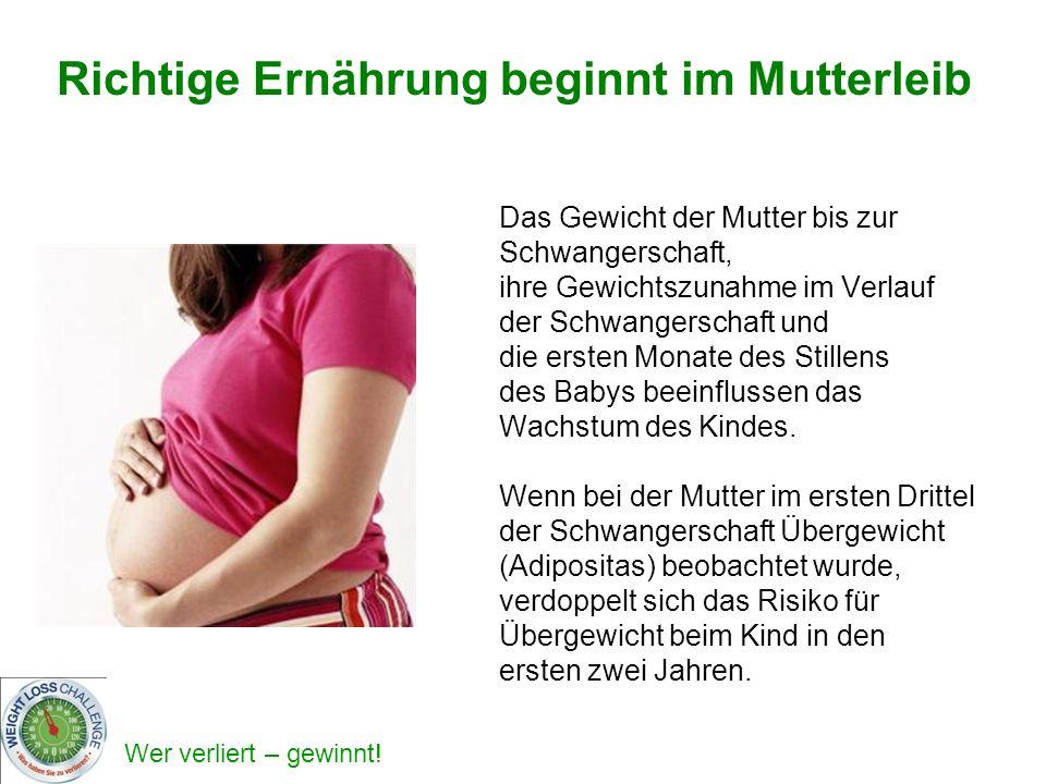 Richtige Ernährung beginnt im Mutterleib
