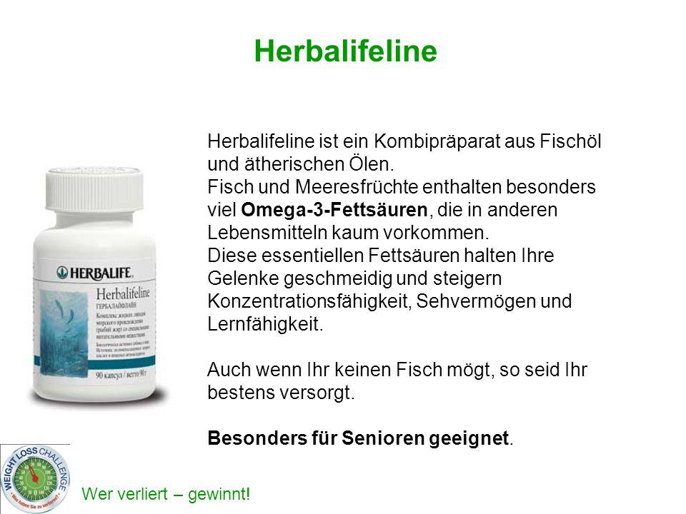 Herbalifeline Herbalifeline ist ein Kombipräparat aus Fischöl und ätherischen Ölen.