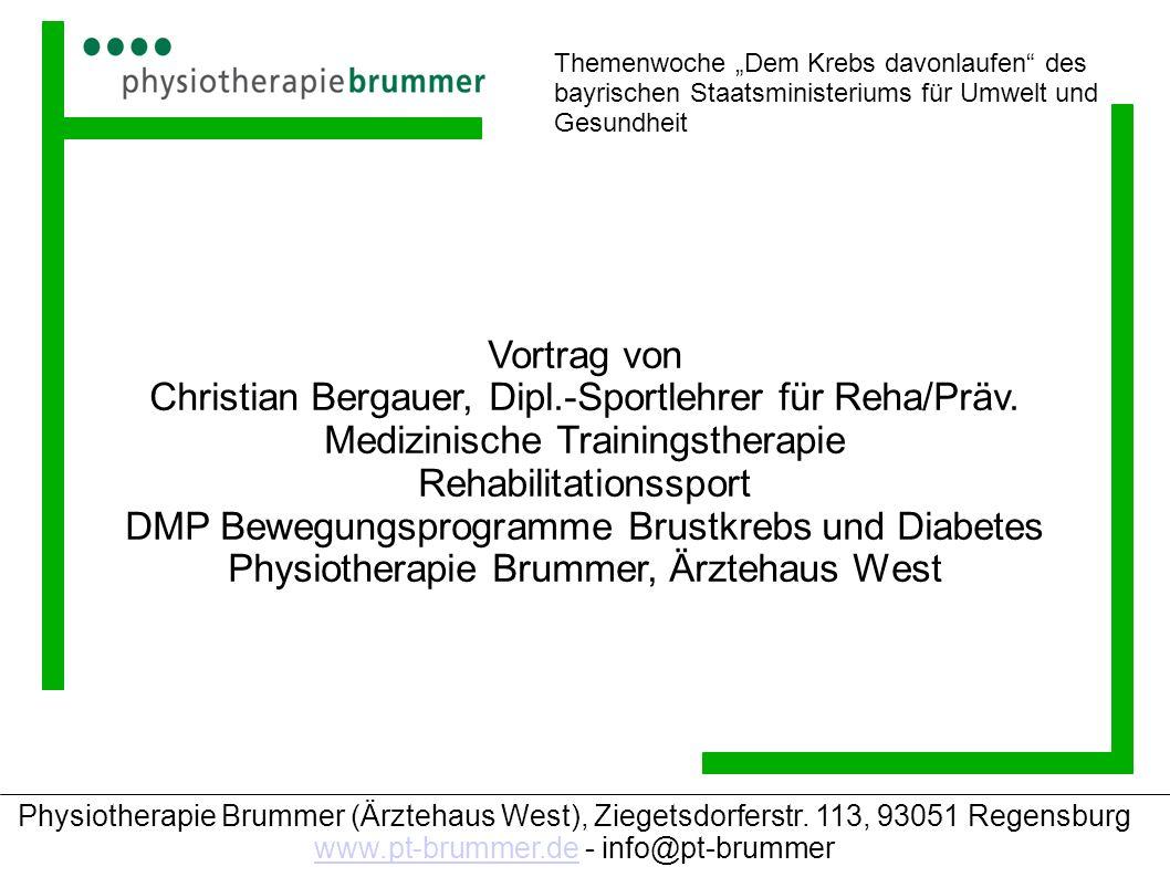 Christian Bergauer, Dipl.-Sportlehrer für Reha/Präv.