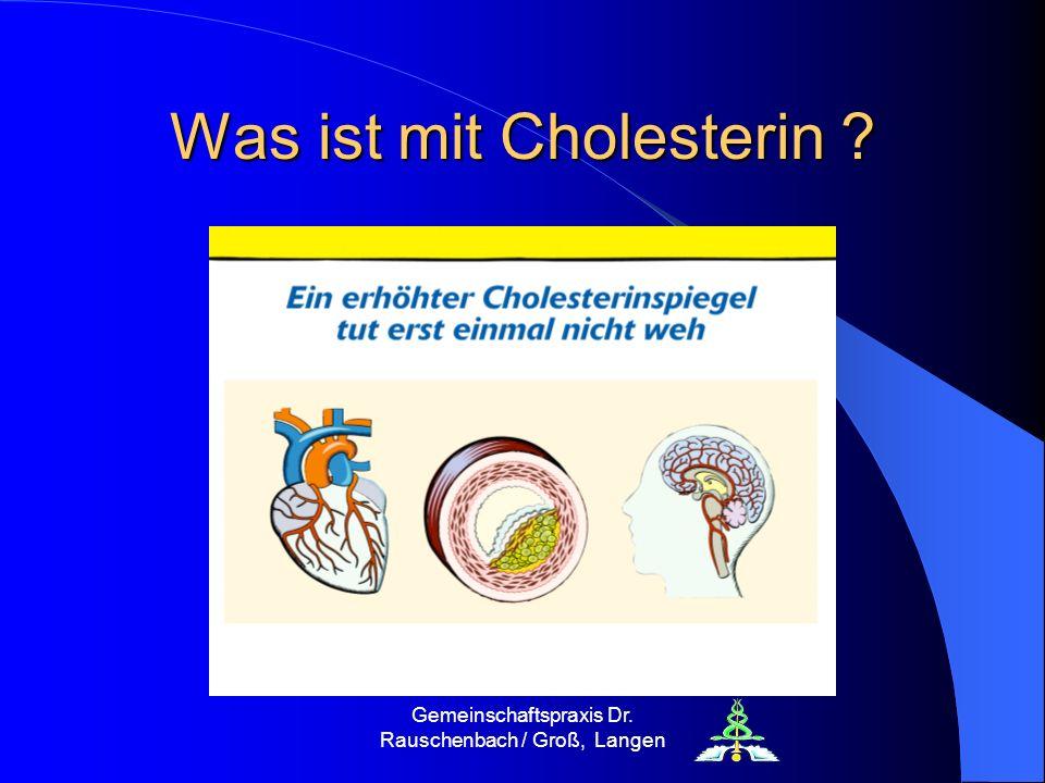 Was ist mit Cholesterin