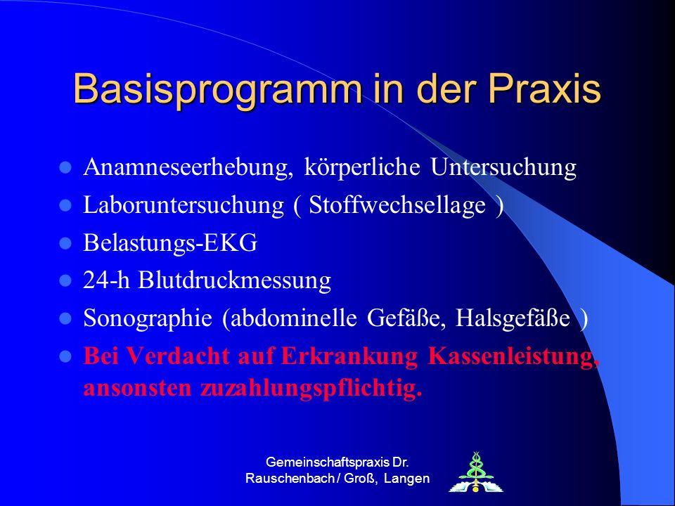 Basisprogramm in der Praxis
