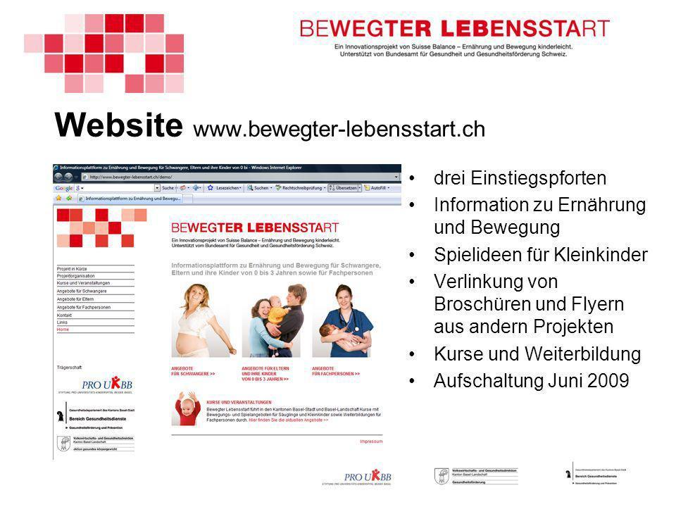 Website www.bewegter-lebensstart.ch