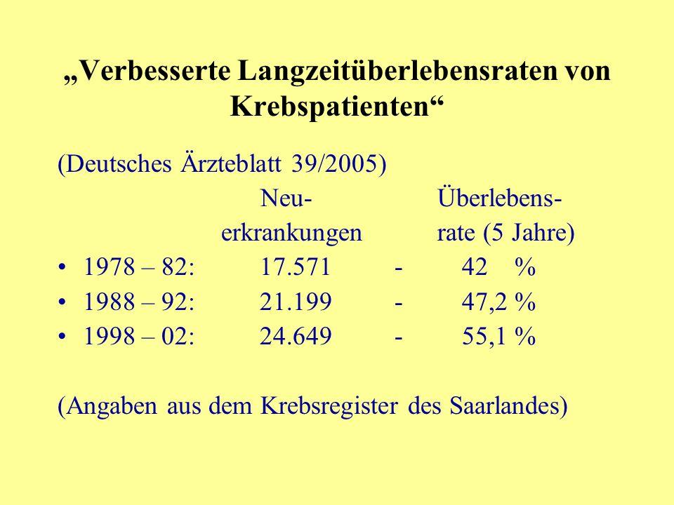 """""""Verbesserte Langzeitüberlebensraten von Krebspatienten"""