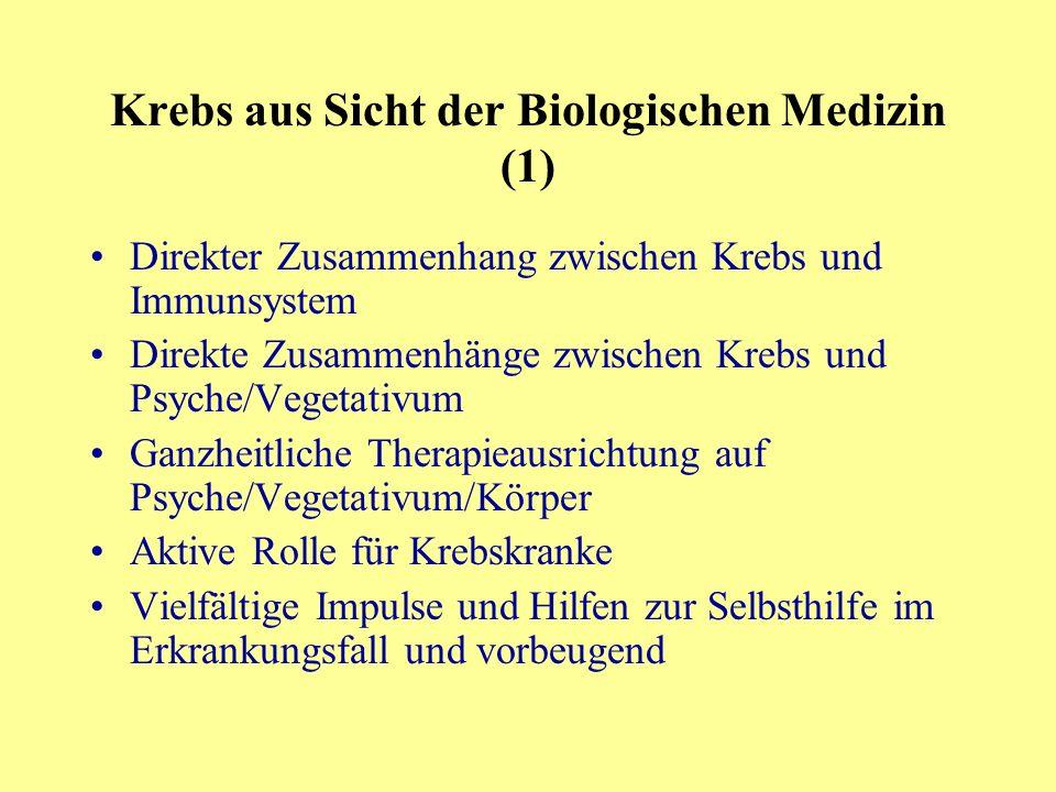 Krebs aus Sicht der Biologischen Medizin (1)