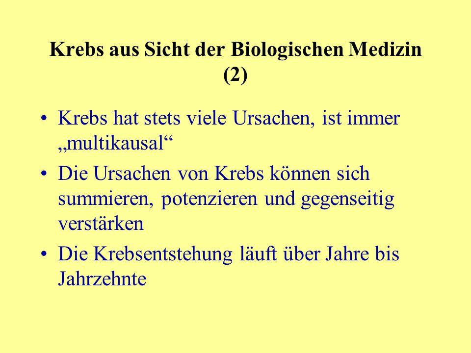 Krebs aus Sicht der Biologischen Medizin (2)