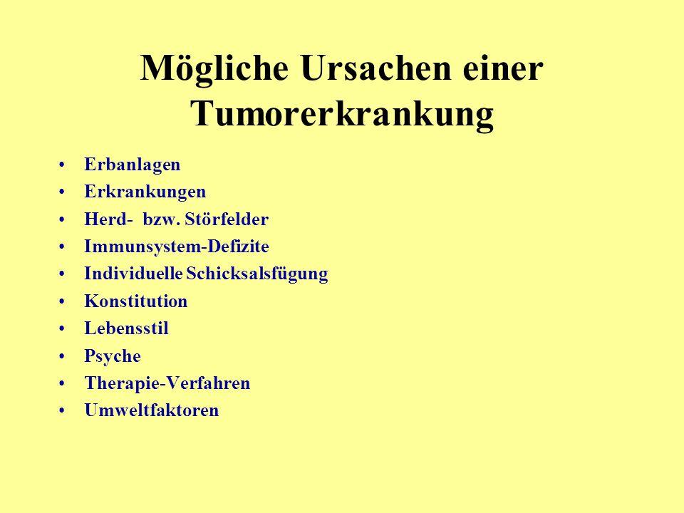 Mögliche Ursachen einer Tumorerkrankung