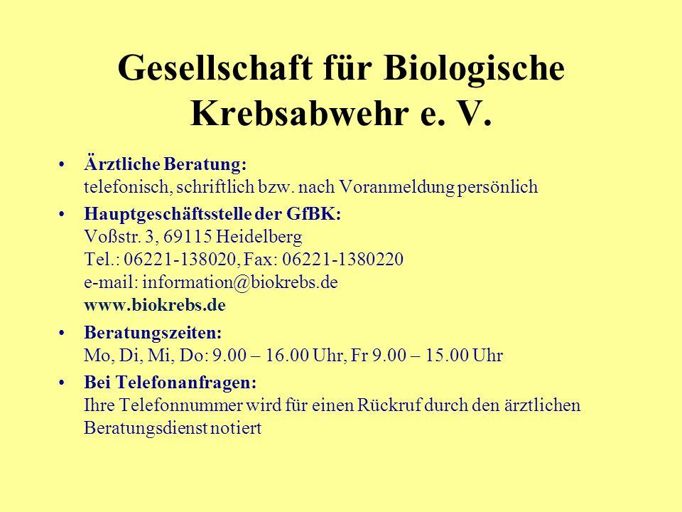 Gesellschaft für Biologische Krebsabwehr e. V.