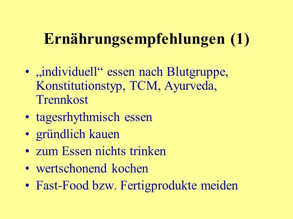 Ernährungsempfehlungen (1)
