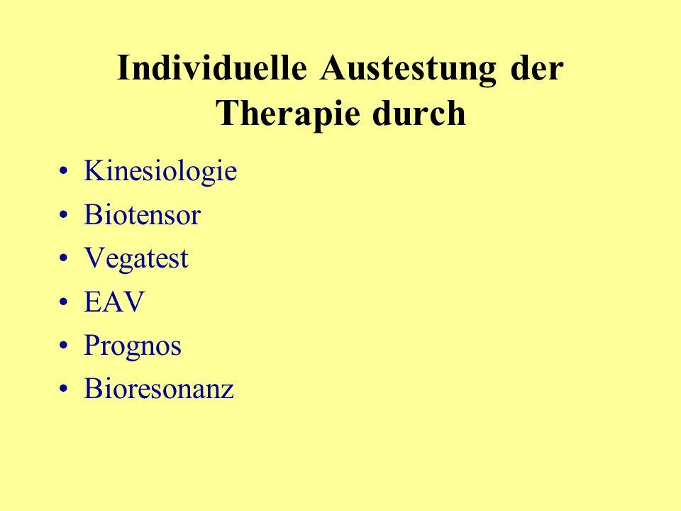 Individuelle Austestung der Therapie durch