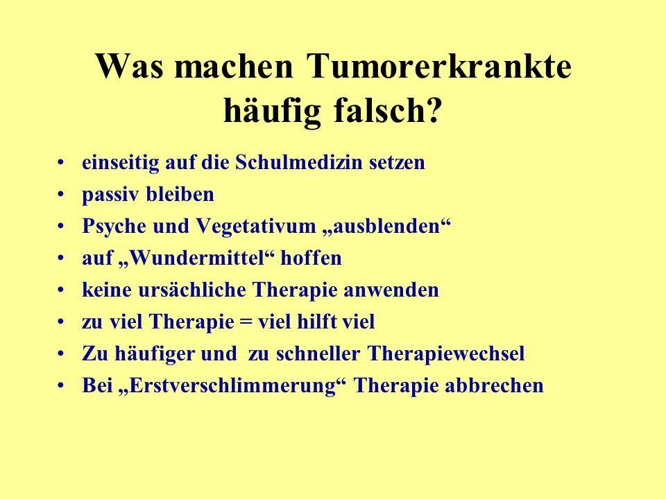 Was machen Tumorerkrankte häufig falsch