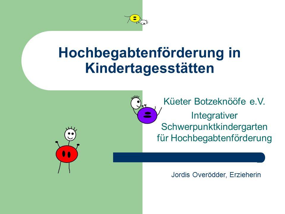 Hochbegabtenförderung in Kindertagesstätten
