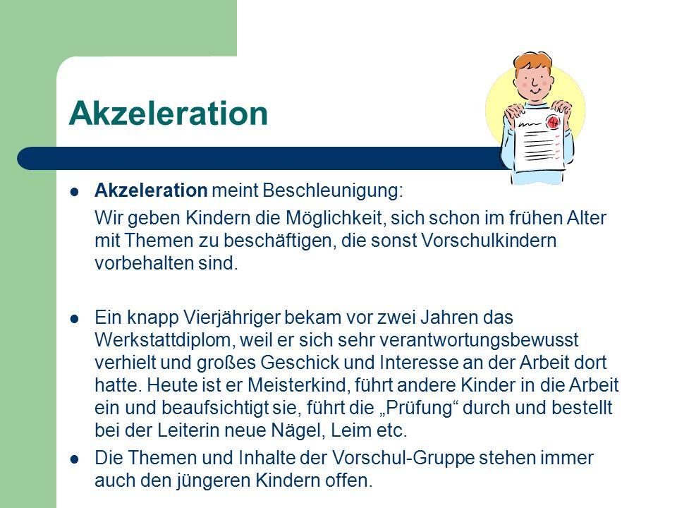 Akzeleration Akzeleration meint Beschleunigung:
