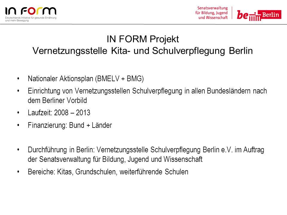 IN FORM Projekt Vernetzungsstelle Kita- und Schulverpflegung Berlin