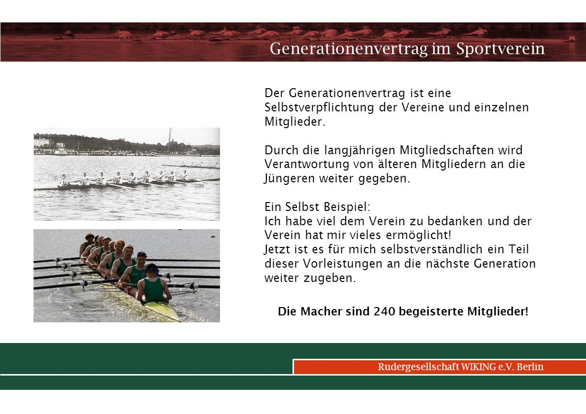 Generationenvertrag im Sportverein