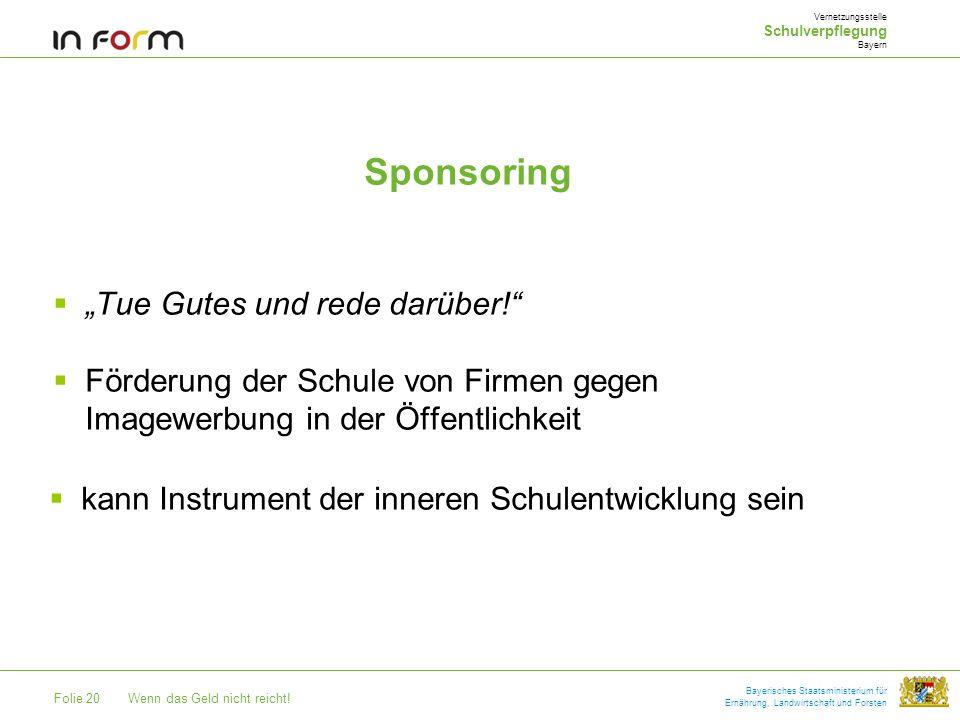 """Sponsoring """"Tue Gutes und rede darüber!"""