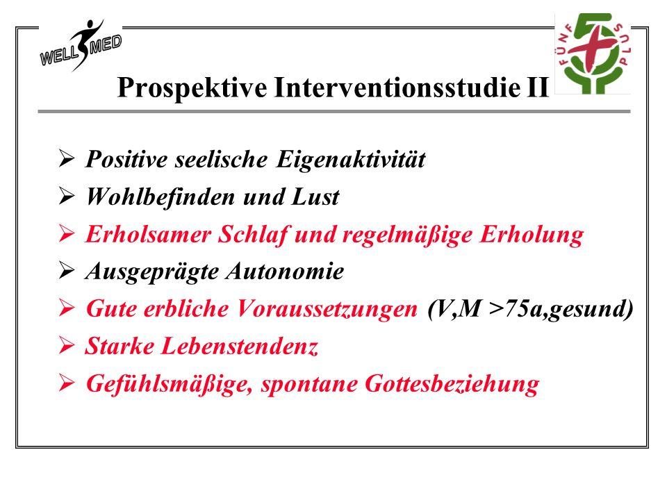 Prospektive Interventionsstudie II