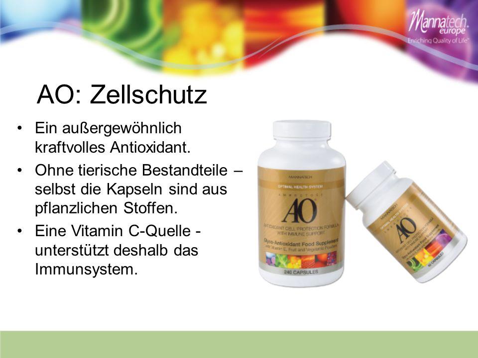 AO: Zellschutz Ein außergewöhnlich kraftvolles Antioxidant.