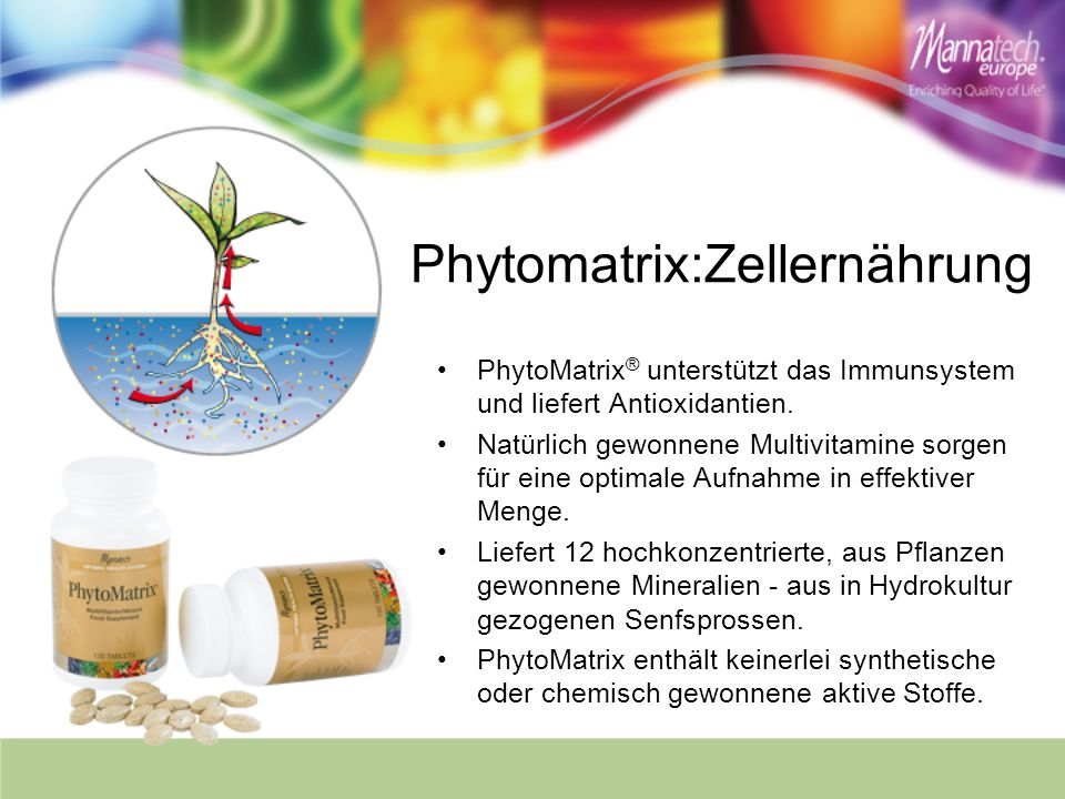 Phytomatrix:Zellernährung