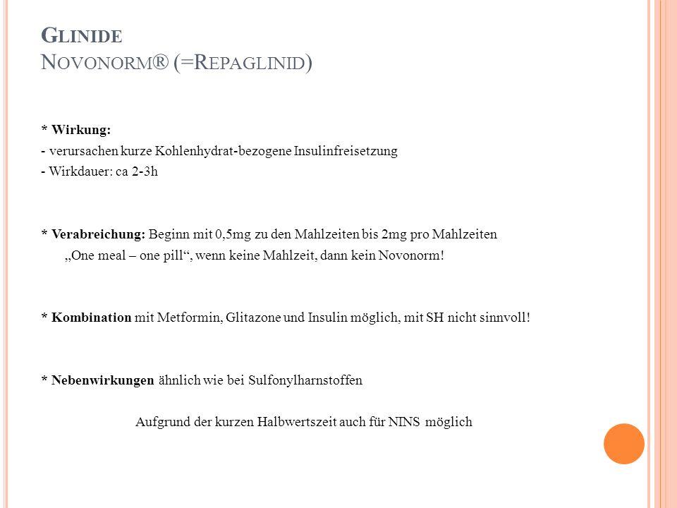 Glinide Novonorm® (=Repaglinid)