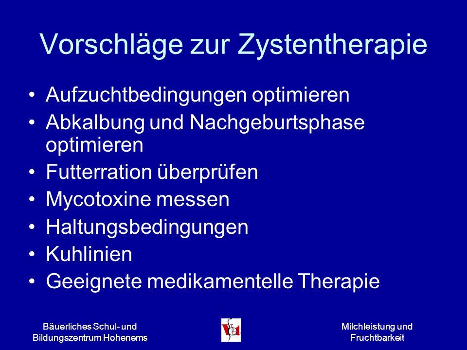 Vorschläge zur Zystentherapie