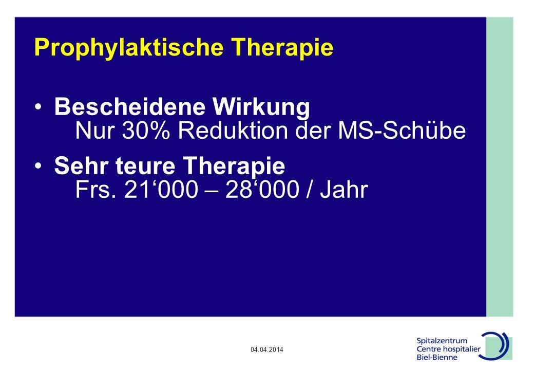 Prophylaktische Therapie