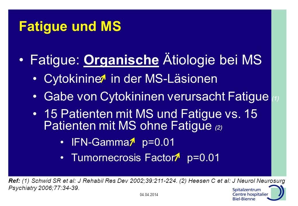 Fatigue: Organische Ätiologie bei MS