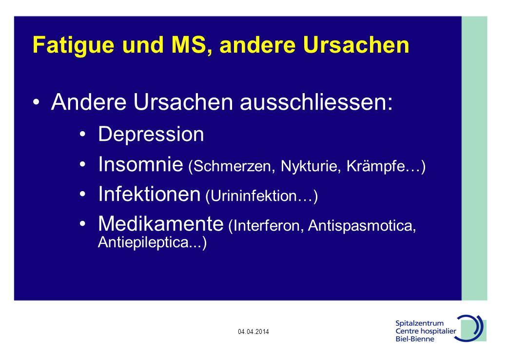 Fatigue und MS, andere Ursachen