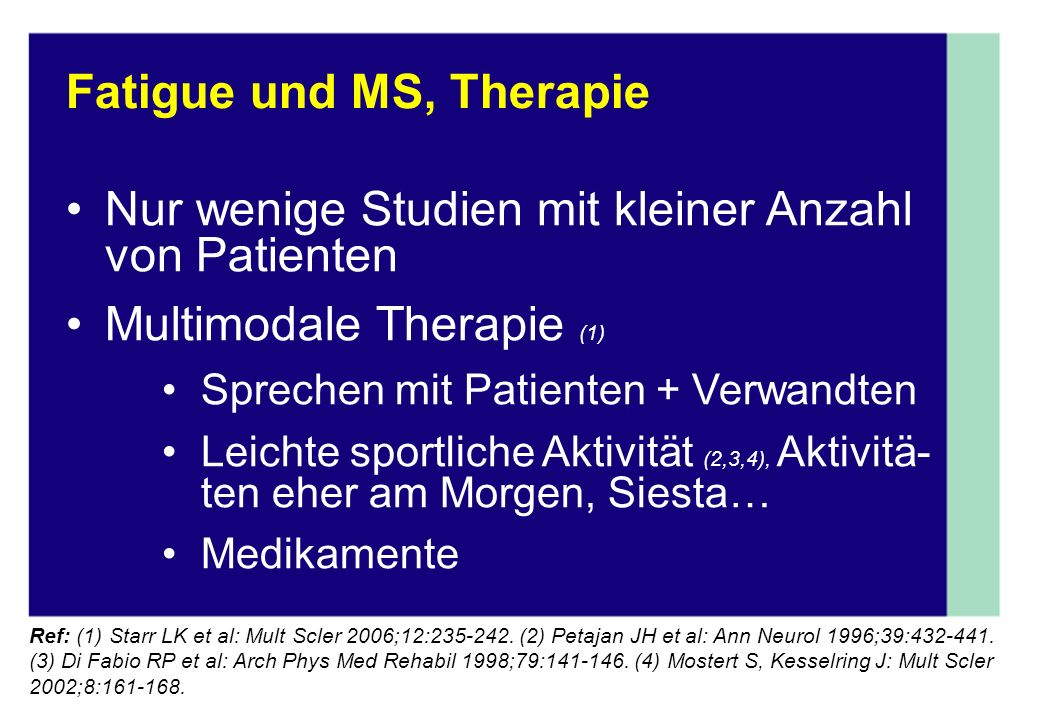 Fatigue und MS, Therapie