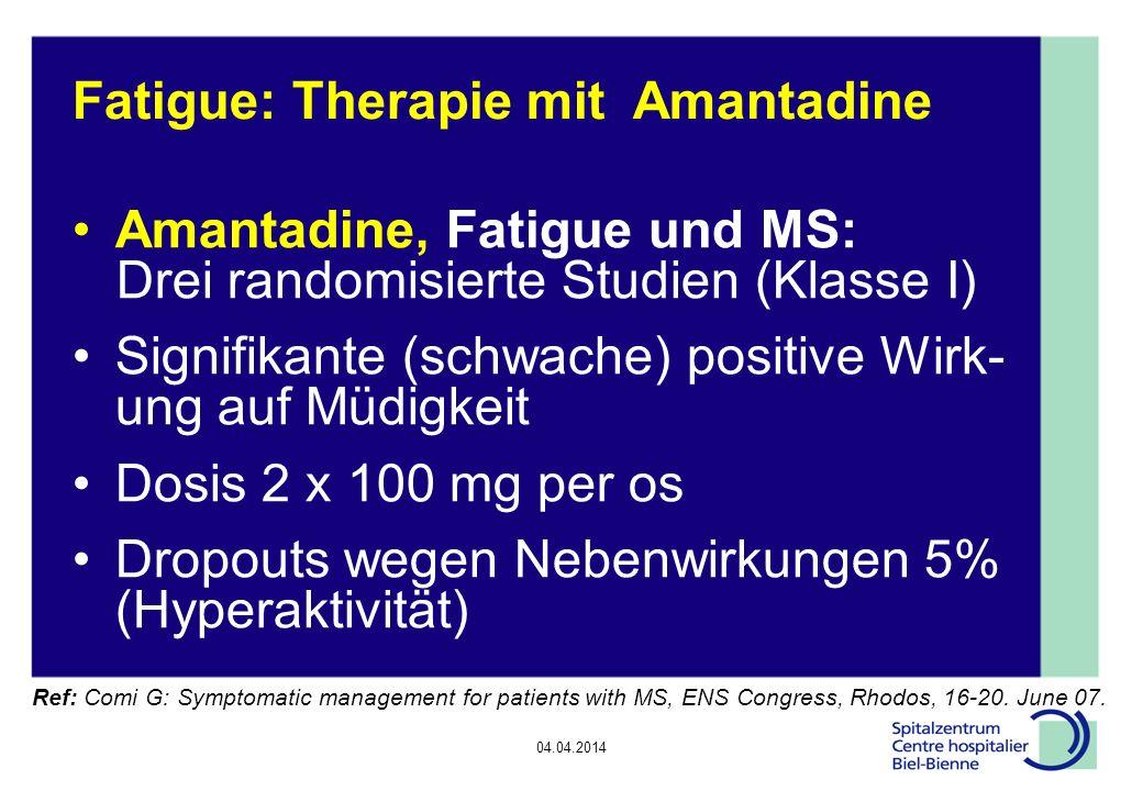 Fatigue: Therapie mit Amantadine