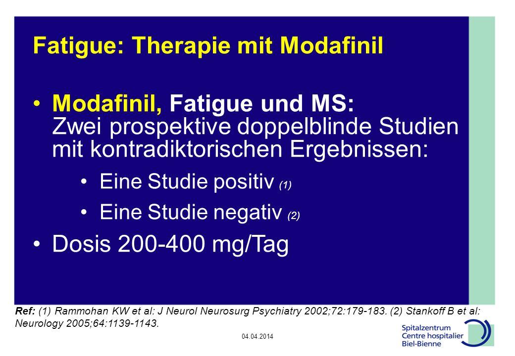 Fatigue: Therapie mit Modafinil