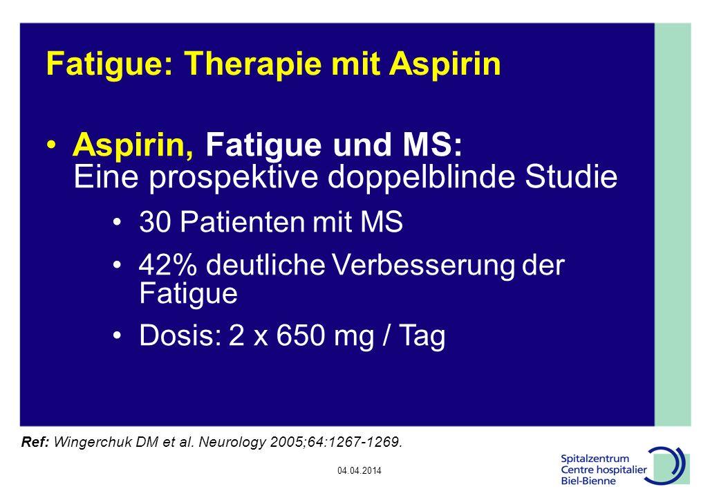 Fatigue: Therapie mit Aspirin