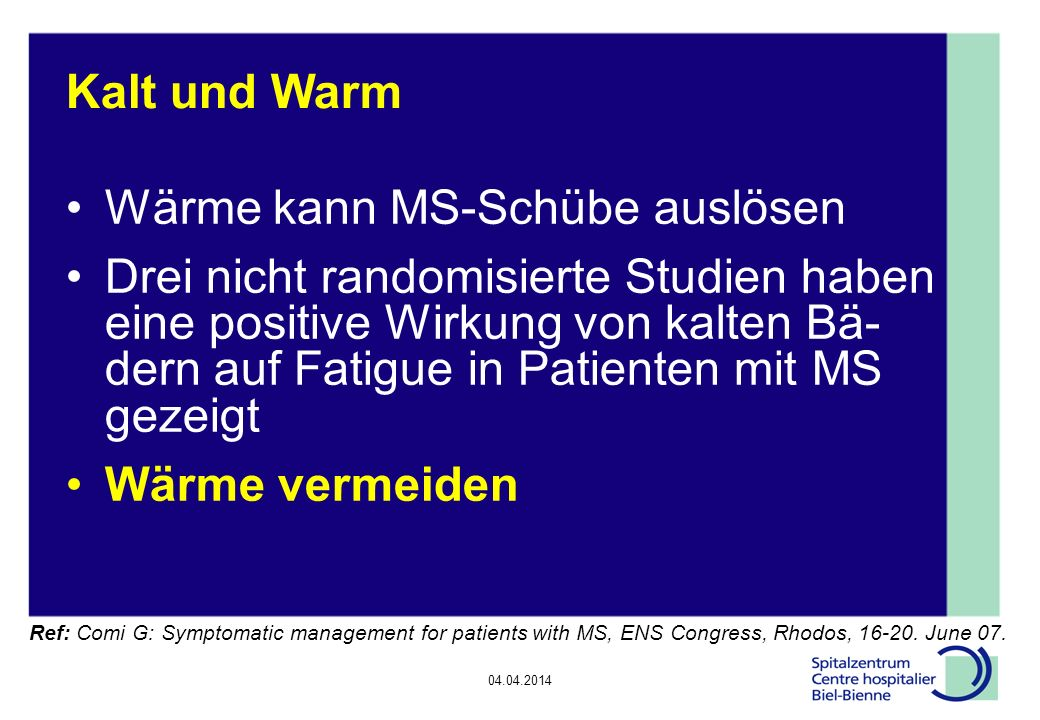 Wärme kann MS-Schübe auslösen