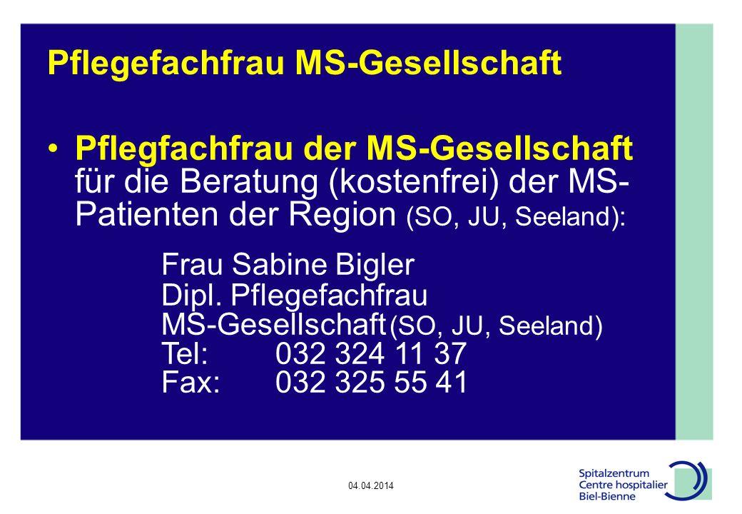 Pflegefachfrau MS-Gesellschaft