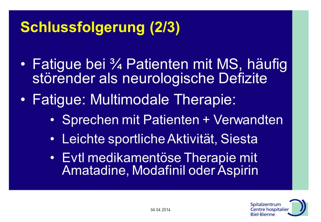 Fatigue: Multimodale Therapie: