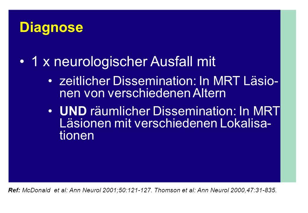 1 x neurologischer Ausfall mit