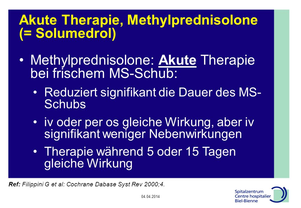 Methylprednisolone For Ms