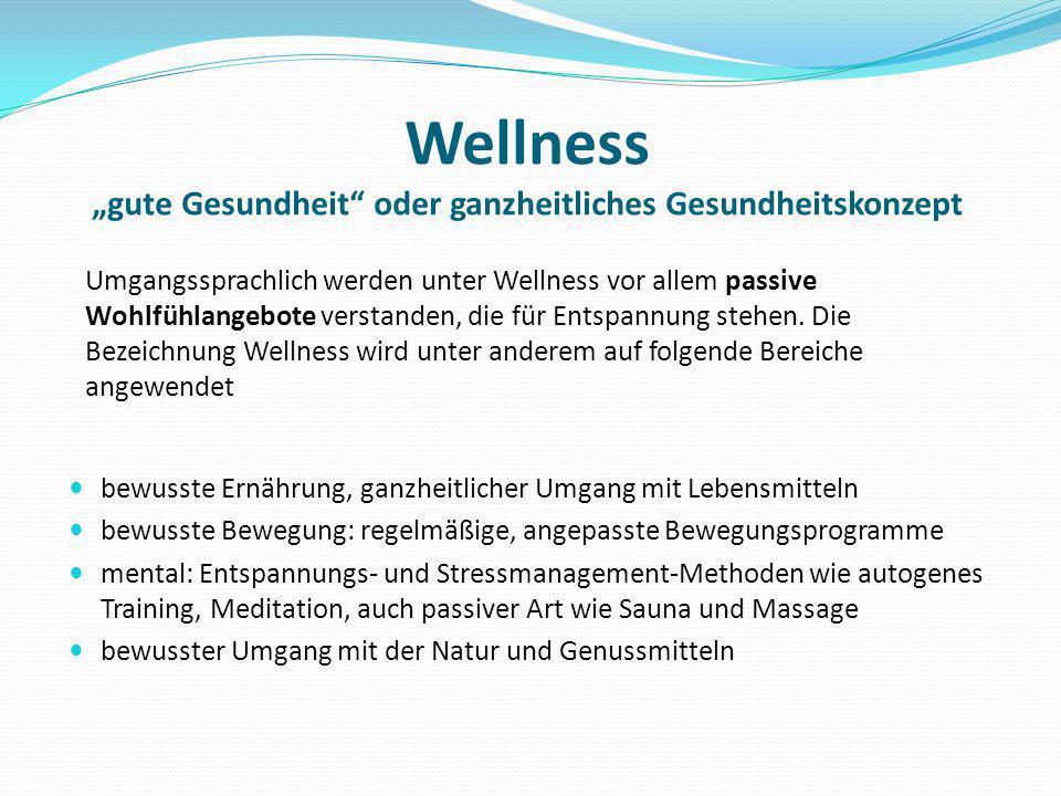 """Wellness """"gute Gesundheit oder ganzheitliches Gesundheitskonzept"""