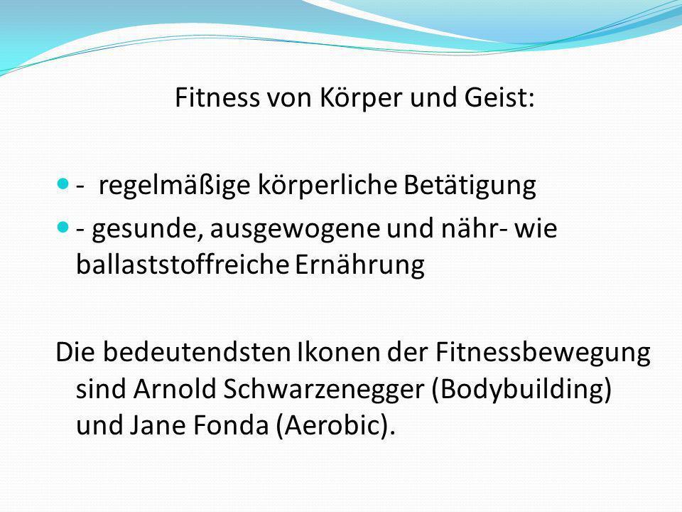 Fitness von Körper und Geist: