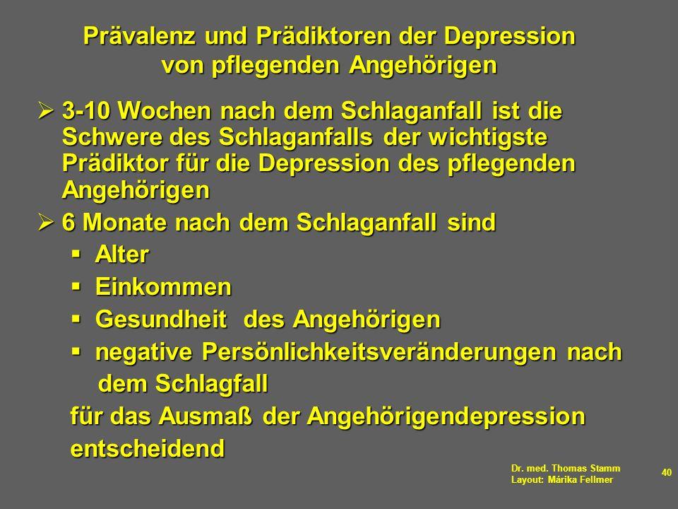 Prävalenz und Prädiktoren der Depression von pflegenden Angehörigen