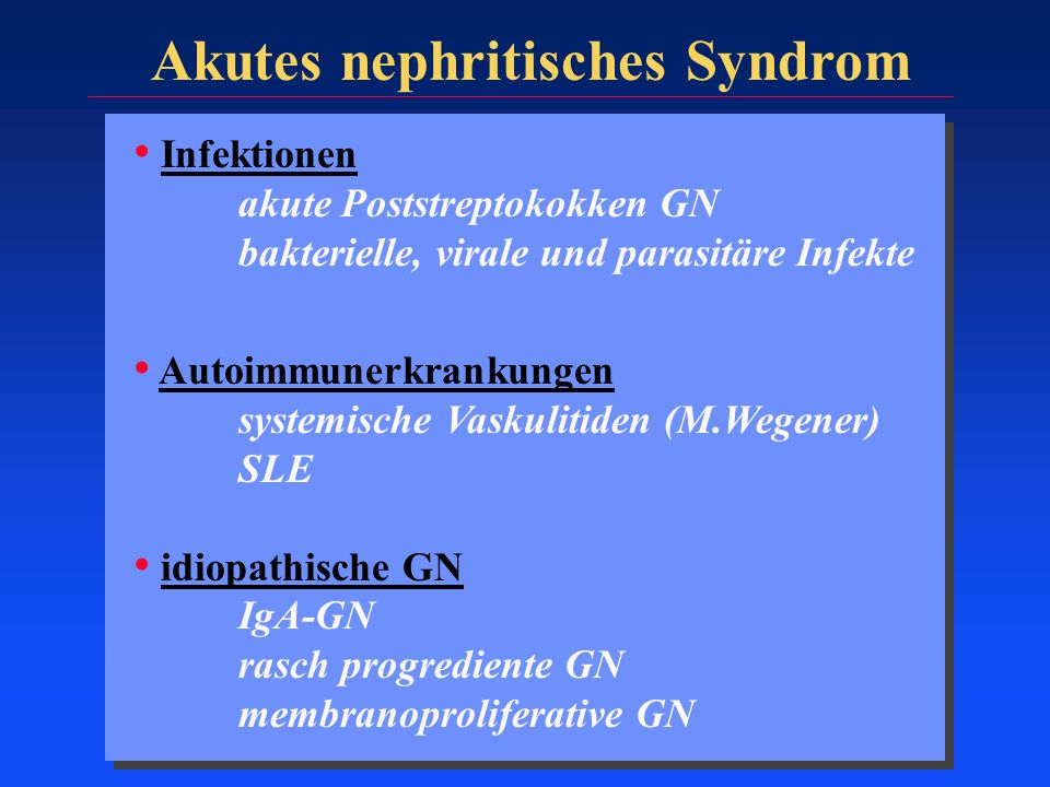 Akutes nephritisches Syndrom