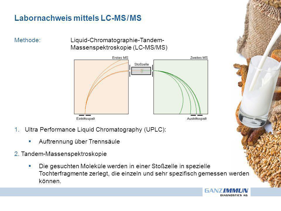Labornachweis mittels LC-MS / MS