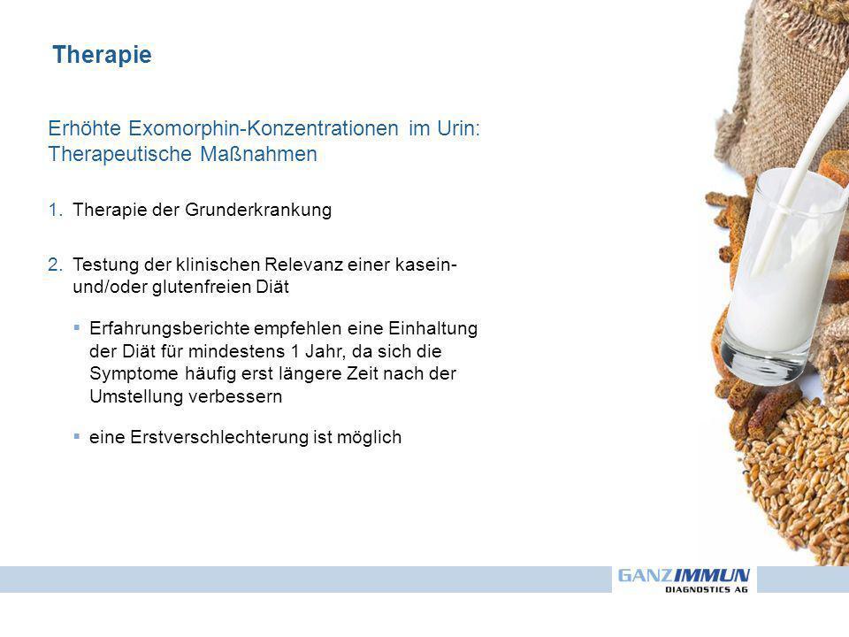 Therapie Erhöhte Exomorphin-Konzentrationen im Urin: Therapeutische Maßnahmen. Therapie der Grunderkrankung.