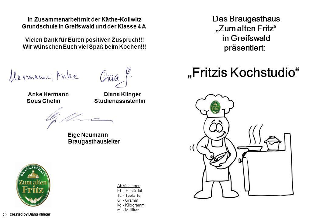 """""""Fritzis Kochstudio Das Braugasthaus """"Zum alten Fritz in Greifswald"""