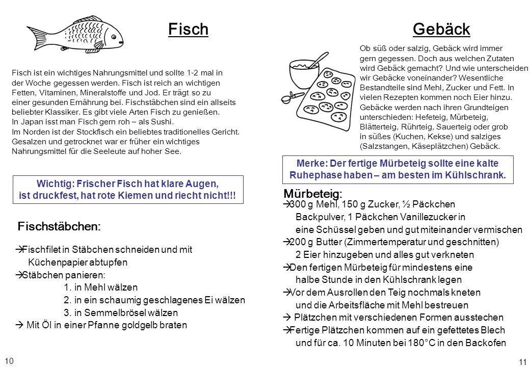 Fisch Gebäck Mürbeteig: Fischstäbchen: