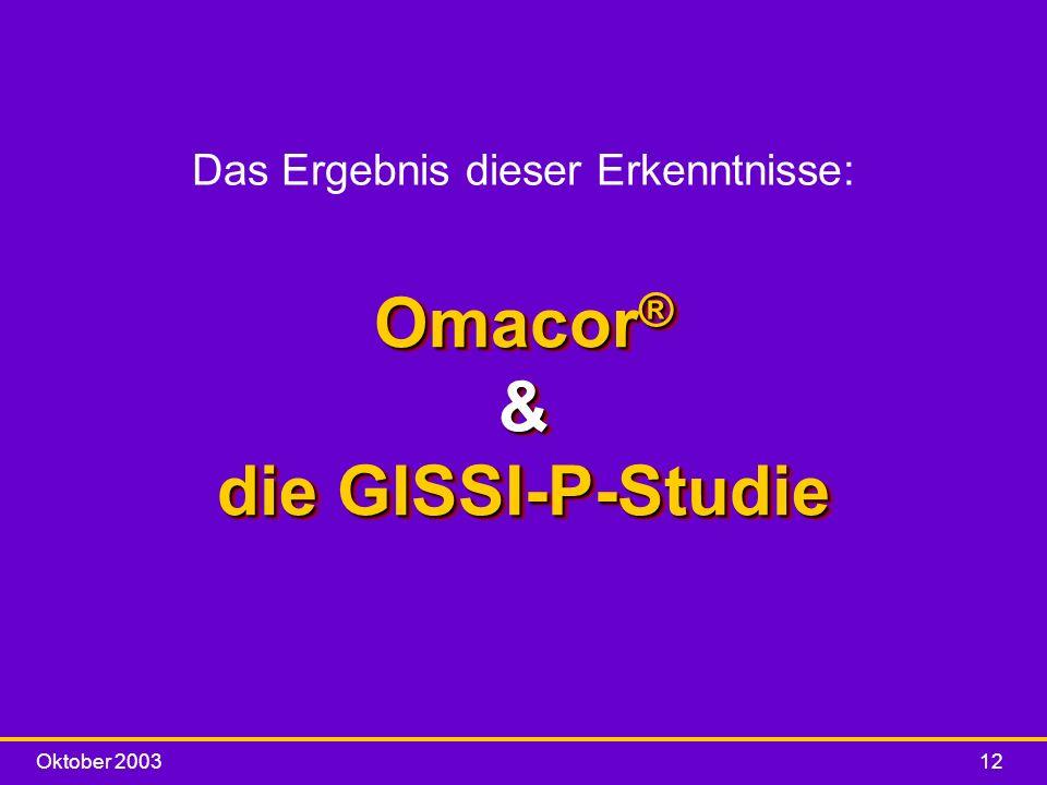 Omacor® & die GISSI-P-Studie
