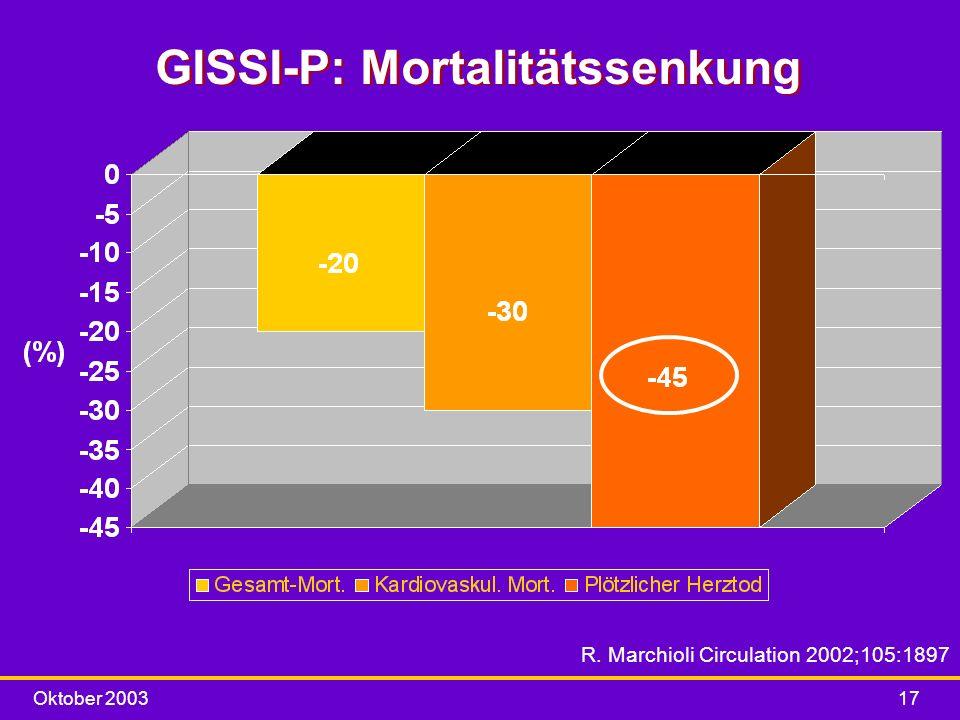 GISSI-P: Mortalitätssenkung