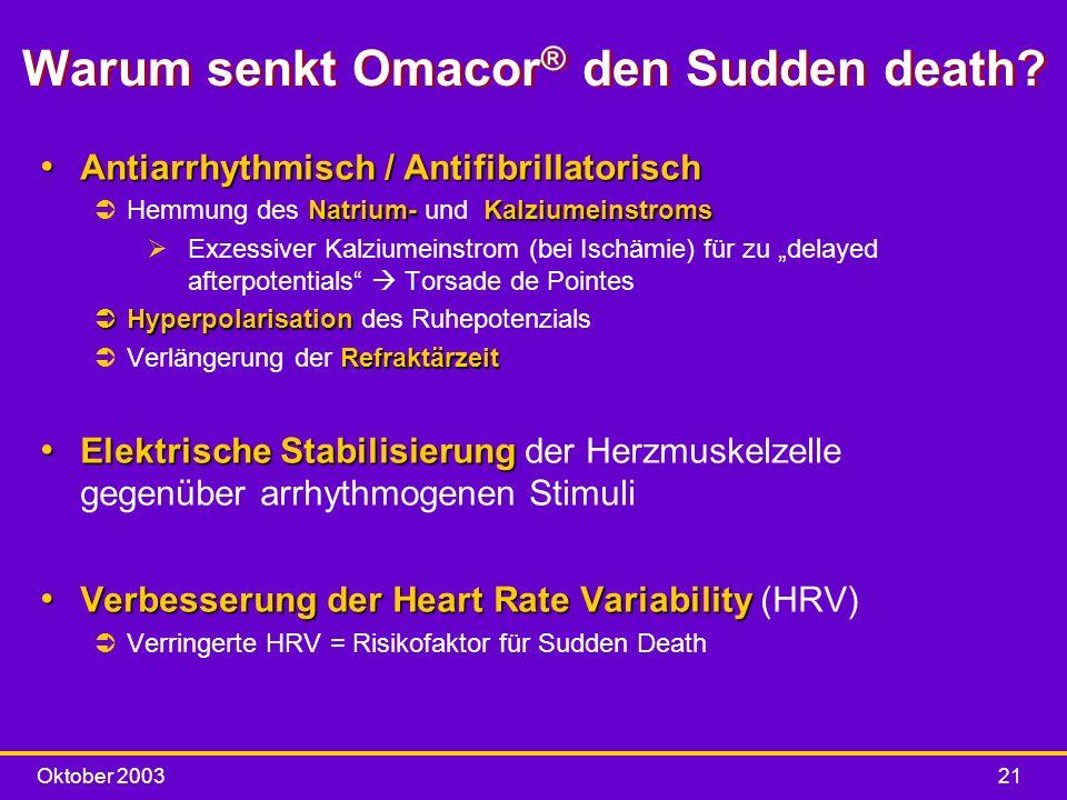 Warum senkt Omacor® den Sudden death