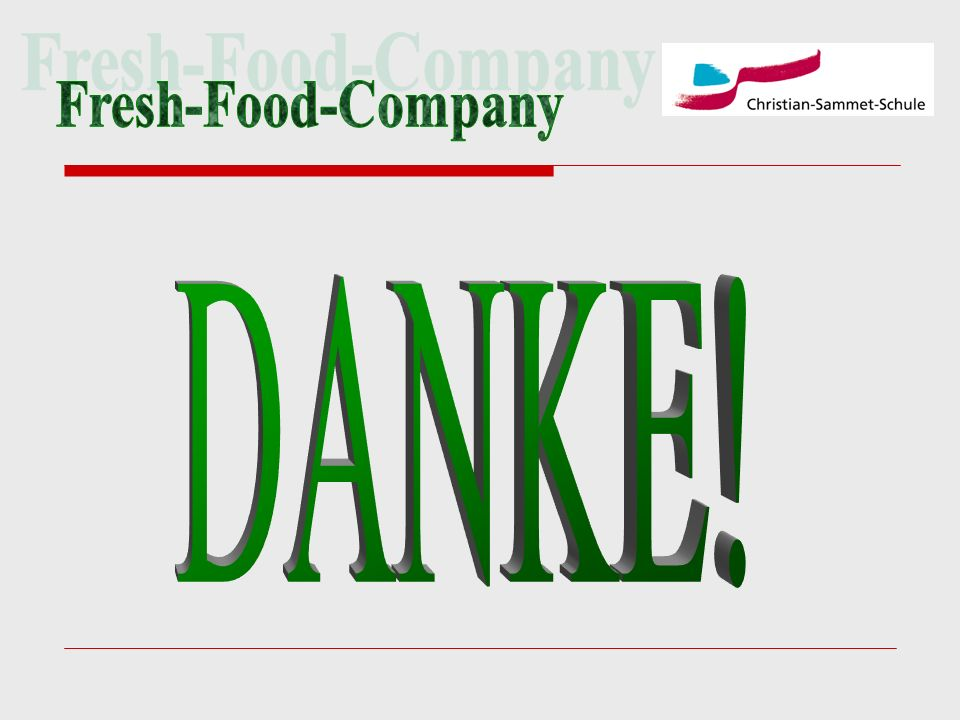Fresh-Food-Company DANKE!