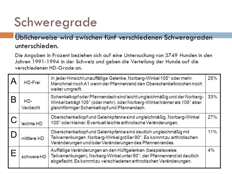 Schweregrade A HD-Frei B HD-Verdacht C D E