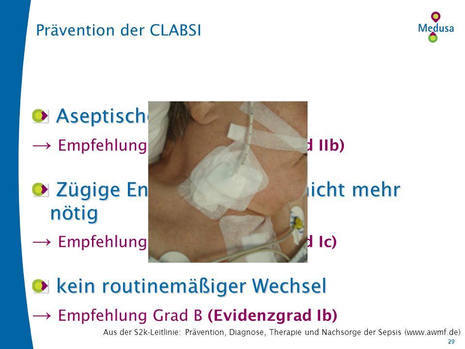 → Empfehlung Grad A (Evidenzgrad IIb)